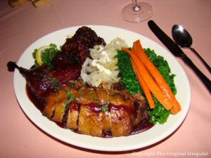 Roast Duck with Rhubarb Glaze