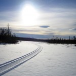 Snowmobile Tracks on Gammon Pond
